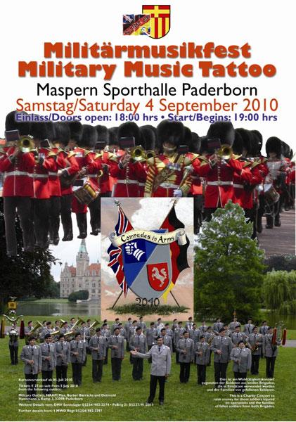 Militärmusikfest in der Sporthalle am Maspernplatz in PADERBORN