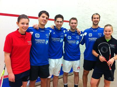 Paderborner Squash Club siegreich beim Heimspiel des Vier-Städte-Turnieres