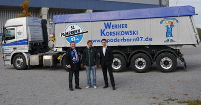 Werner Korsikowski GmbH fährt mit SCP-Logo