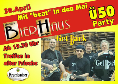 "Mit ""beat"" in den Mai - Ü-50-Party in Hansi´s Bierhaus"