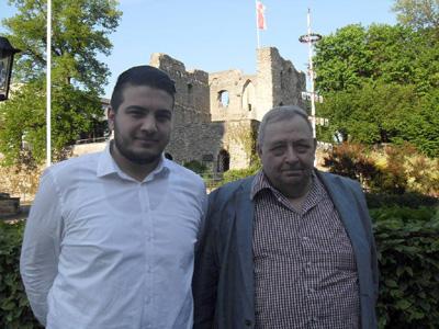(v.l.) Mehmet Ali Yeșil und Dieter Bursch
