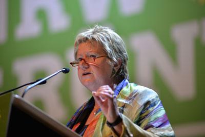 Sylvia Löhrmann auf dem Neujahrsempfang der Paderborner Grünen
