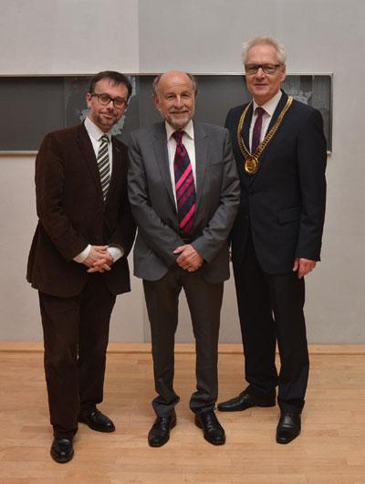 v.l.: Emmanuel Suard (Kulturrat der Franz. Botschaft in Berlin), Wilhelm Groppe und stellvertr. Bürgermeister Martin Panke