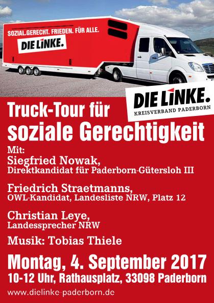 Truck Tour für soziale Gerechtigkeit in Paderborn
