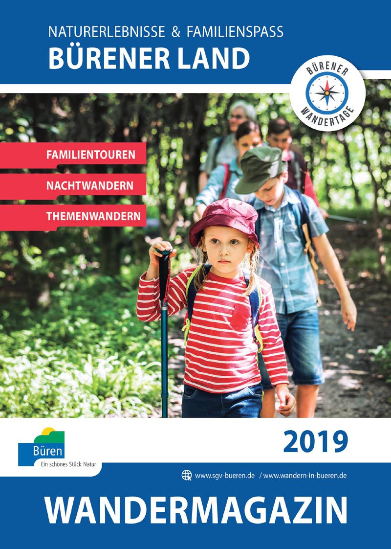 Neues Wandermagazin 2019 für Büren