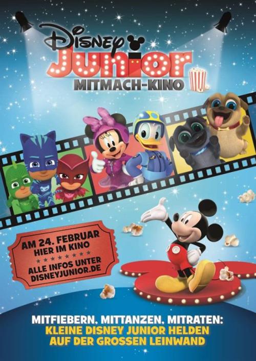 UCI EVENTS zeigt das neue Disney Junior Mitmach-Kino