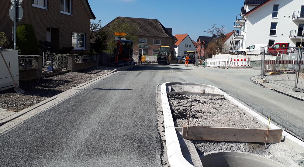 Bauarbeiten Alter Hellweg Wewer