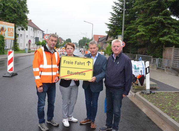Borchener Straße wieder frei gegeben