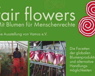 Mit Blumen für Menschenrechte