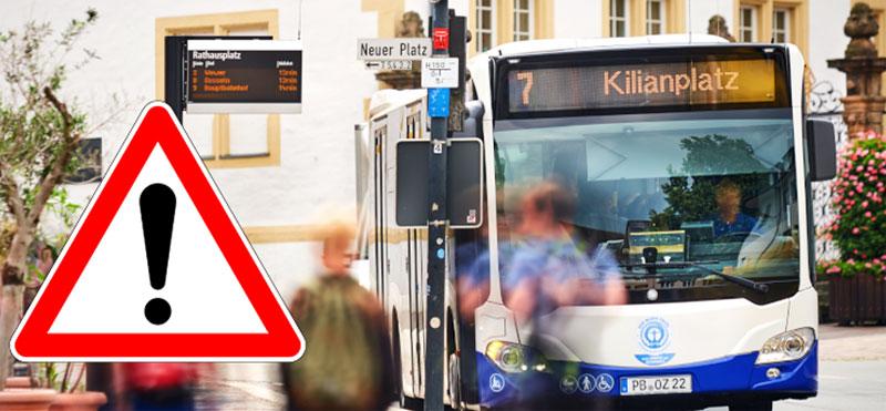 Bus an Haltestelle