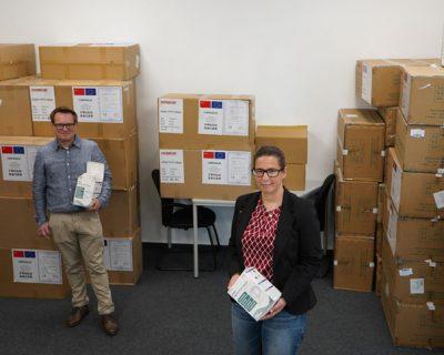 Caritas im Erzbistum Paderborn erhält weitere Lieferung von Schutzmaterialien