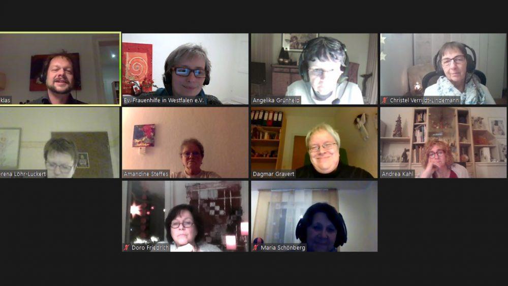 Screenshot der Onlineteilnehmer